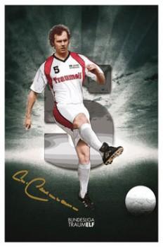 Franz Beckenbauer als Kunstdruck, handsigniert