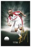 Franck Ribery als Kunstdruck, handsigniert